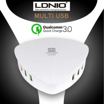 LDNIO 6 USB DESKTOP CHARGER, 8A, 40W, with QC3.0 (A6801)