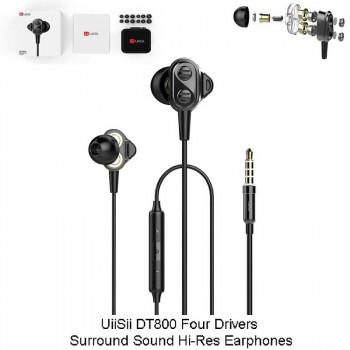 UiiSii DT800 Four Drivers Surround Sound Hi-Res Earphones