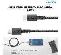 Anker PowerLine Select+ 60W USB-C to USB-C Cable, 1.8m (A8033H11) black