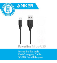 Anker PowerLine microUSB, 0.9m (A8132H12) black
