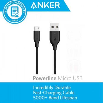 Anker PowerLine microUSB, 3m (A8134H12) black
