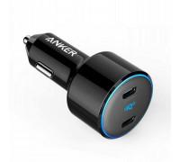 Anker PowerDrive III Duo 48W with 2 USB-C Power iQ 3.0 Ports, 30W+18W (A2725H11) black