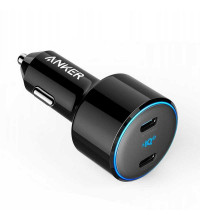 Anker PowerDrive III Duo 48W with 2 USB-C Power iQ 3.0 Ports, 30W+18W (A2725H11) black