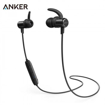 Беспроводные cтерео-наушники Anker SoundBuds Slim Bluetooth Headphone Black (A3235H11)