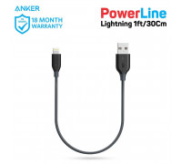 Anker PowerLine Lightning, 0.3m (A8114011) space gray