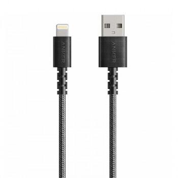 Anker PowerLine Select+ Lightning, 1.8m, с чехлом, 15000+, в оплетке (A8013H11) gray