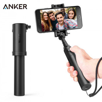 Anker Bluetooth Selfie Stick Highly-Extendable and Compact Handheld Monopod (A7161)