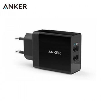 Сетевое зарядное устройство Anker 24W 4.8A PowerPort 2 Ports Wall Charger (A2021311)