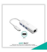 Aukey OTG USB3.0 Hub 3ports+Gigabit Ethernet Adaptor - TypeC (CB-C17)
