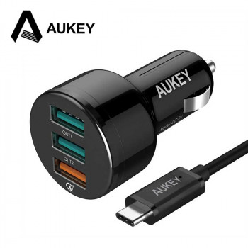 Автомобильное зарядное устройство Aukey 3 Port Car Charger with Qualcomm Quick Charge 3.0 (CC-T11)