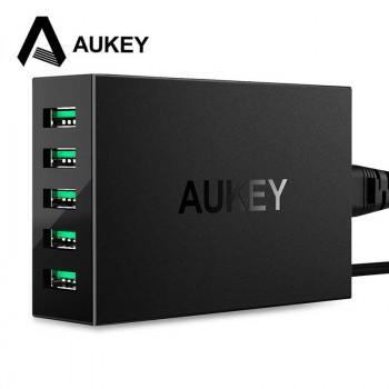 Настольная сетевая зарядная станция Aukey 50W 10A 5-Port USB Charging Station (PA-U33)