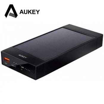 AUKEY PB-P23 16000mAh USB-C Solar Power Bank with QC 3.0