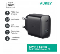 Aukey Swift 20W PD Wall Charger (PA-F1S), black