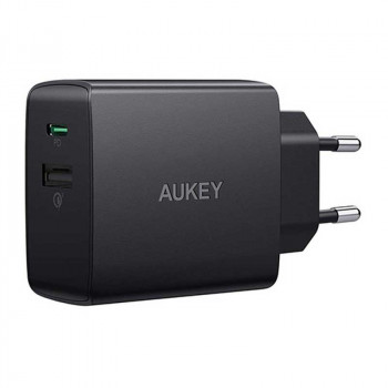 Aukey USB-C 18W Wall Charger PD18W+QC3.0 18W (PA-Y17) black