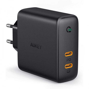 Aukey 63W Dual PD Wall Charger with Dynamic Detect (PA-D5)