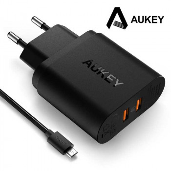 Сетевое зарядное устройство Aukey PowerAll Dual USB Charger with Qualcomm Quick Charge 3.0 (PA-T16)