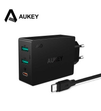 Aukey 3 Port Type-C Wall Charger with Quick Charge 3.0 (PA-Y4)