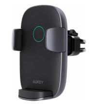 Aukey Navigator Wind II, в решетку, Qi 10w, с автозажимом (HD-C52) black