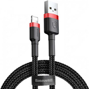 Baseus Cafule Cable, 8pin, 1m, 2.4A (CALKLF-B19) black with red