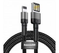 Baseus Cafule Cable (Special Edition), 8pin, 2m, 1.5Amax, в оплетке (CALKLF-HG1) black with gray