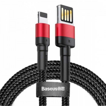 Baseus Cafule Cable (Special Edition), 8pin, 1m, 2.4Amax, в оплетке (CALKLF-G91) black with red