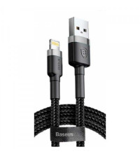 Baseus Cafule Cable, 8pin, 1m, 2.4A (CALKLF-BG1) black