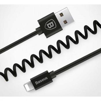Baseus Elastic Cable, 1.6m, витой, 1.8A max (CALIGHTNG-EL01) black