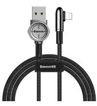 Baseus Exciting Mobile Game Cable, 8pin, 1m, 2.4A, угловой, в оплетке (CALCJ-A01) black