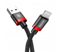 Baseus Golden Belt Cable, 8pin, 1.5m, 2Amax, в оплетке (CALGB-A19) black with red