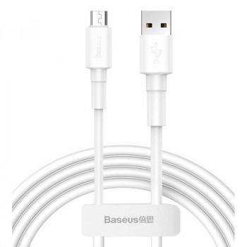 Baseus Mini White Cable, 8pin, 1m, 2.4A (CALSW-02) white