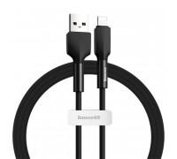 Baseus Silica Gel Cable, 8pin, 1m, 2.4A (CALGJ-01) black