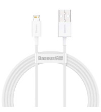 Baseus Superior Series Fast Charging Data Cable, 8pin, 1.5m, 2.4A (CALYS-B02) white