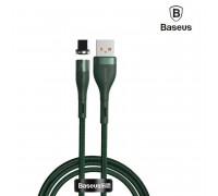 Baseus Zinc Magnetic Safe Charging Cable, 8pin, 1m, 2.4A, в оплетке, магнитный (CALXC-K06) green