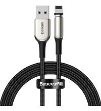 Baseus Zinc Magnetic Cable, 8pin, 2m, 2.4A, в оплетке, магнитный, круглый (CALXC-I01) black