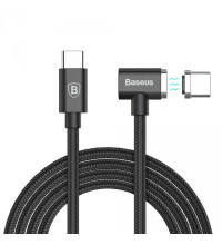 Baseus Type-C Magnet Cable, for MacBook, 1.5m, 4.3A, 86w (BS-CX004) black
