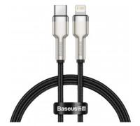 Baseus Cafule Series Metal Data Cable, Type-C to Lightning, 0.25m, 20W, в оплетке (CATLJK-01) black
