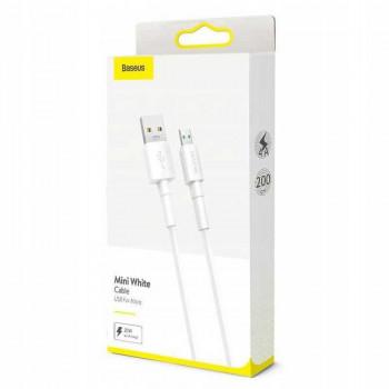 Baseus Mini White Cable, microUSB, 2m, 4A, 20w  (CAMSW-E02) white