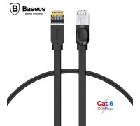 Baseus патч-корд RJ45 Gigabit Network Cable, 0.5m, 1Gbps, плоский (PCWL-A01) черный