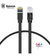 Baseus патч-корд RJ45 Gigabit Network Cable, 0.5m, 1Gbps, плоский (PCWL-A01) черный
