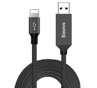 Baseus Artistic Striped Cable, Type-C, 5m, 3A, support QC3.0 (CATYW-B01) black