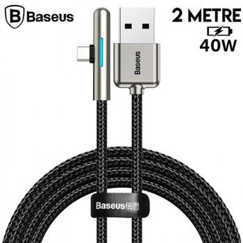 Baseus Iridescent Lamp HW Flash, Type-C, 40w, 2m, 4Amax, в опл.,угловой (CAT7C-C01) black
