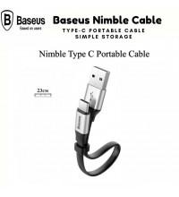 Baseus Nimble Type-C Portable Cable, 0.23m, 3A, плоский (CATMBJ-0S) silver
