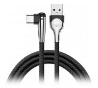 Baseus Sharp-bird Mobile Game Cable, Type-C, 1m, 3A, угловой, в оплетке (CATMVP-D01) black