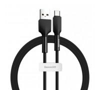 Baseus Silica Gel Cable, Type-C, 1m, 3A, силиконовый, огнестойкий (CATGJ-01) black