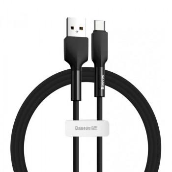 Baseus Silica Gel Cable, Type-C, 2m, 2A, силиконовый, огнестойкий (CATGJ-A01) black