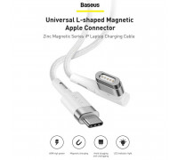 Baseus Zinc Magnetic Series iP Laptop Cable (Type-C to L-shaped Port, 60w, 2m, MagSafe (CATXC-W02)