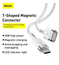 Baseus Zinc Magnetic Series iP Laptop Cable (Type-C to T-shaped Port, 60w, 2m, MagSafe2 (CATXC-V02)