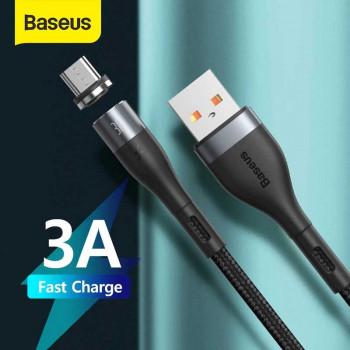 Baseus Zinc Magnetic Safe Fast Charging Type-C Cable, 1m, 3A, в оплетке, магнитный (CATXC-MG1) black