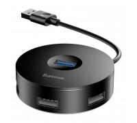 Baseus Round Box Hub Adapter, 1xUSB 3.0, 3xUSB 2.0, microUSB input (CAHUB-F01) black