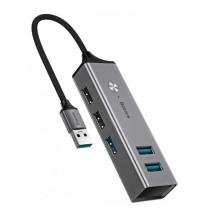 Baseus Cube HUB Adapter 3 x USB 3.0 + 2 x USB 2.0 (CAHUB-C0G) grey